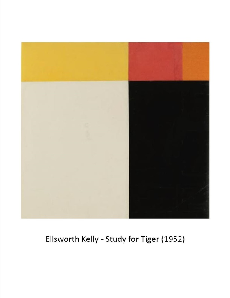 Ellsworth Kelly - Study for Tiger (1952)[2]